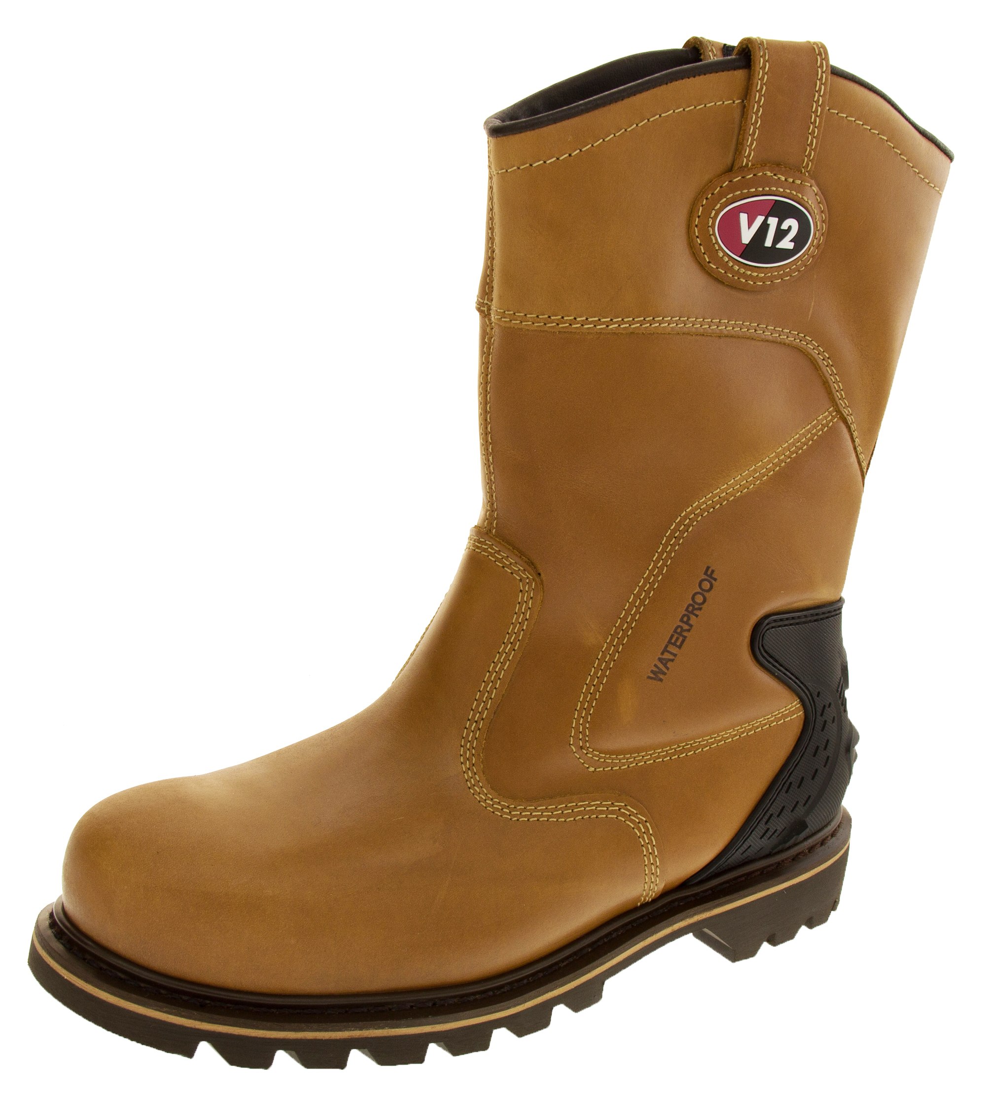 mens v12 waterproof rigger boots leather cowboy work boot