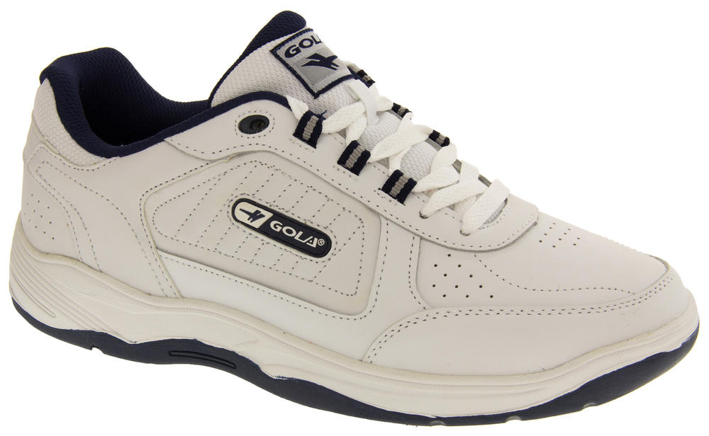 mens gola wide fit ee leather casual laces trainers