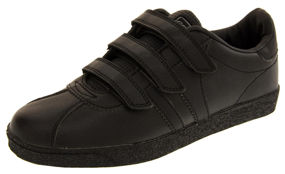Boys Black GOLA Trainers Casual Velcro School Shoes