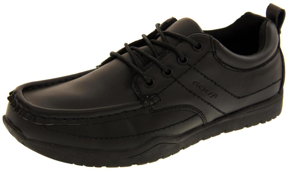 Boys GOLA Black LEATHER Formal School Shoes