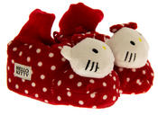 Baby/Infant Girls HELLO KITTY Polkadot Bootee Slippers Thumbnail 3