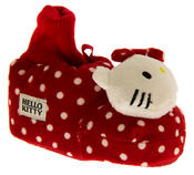 Baby/Infant Girls HELLO KITTY Polkadot Bootee Slippers Thumbnail 2