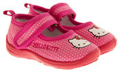 Girls HELLO KITTY Mary Jane Shoe Slippers Thumbnail 5
