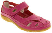 Womens Leather Sandals Ladies Comfort Mary Jane Flat Velcro Shoes Size 4 5 6 7 8 Thumbnail 10