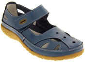 Womens Leather Sandals Ladies Comfort Mary Jane Flat Velcro Shoes Size 4 5 6 7 8 Thumbnail 6