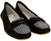 Womens Suede Leather Loafers Shoes Ladies COOLERS Slip On Flats Size 4 5 6 7 8 Thumbnail 5