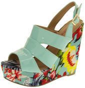 Womens DOLCIS Floral Wedge Sandals Ladies Platform High Heels