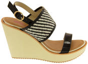 Womens DOLCIS High Heel Wedge Sandals Thumbnail 3