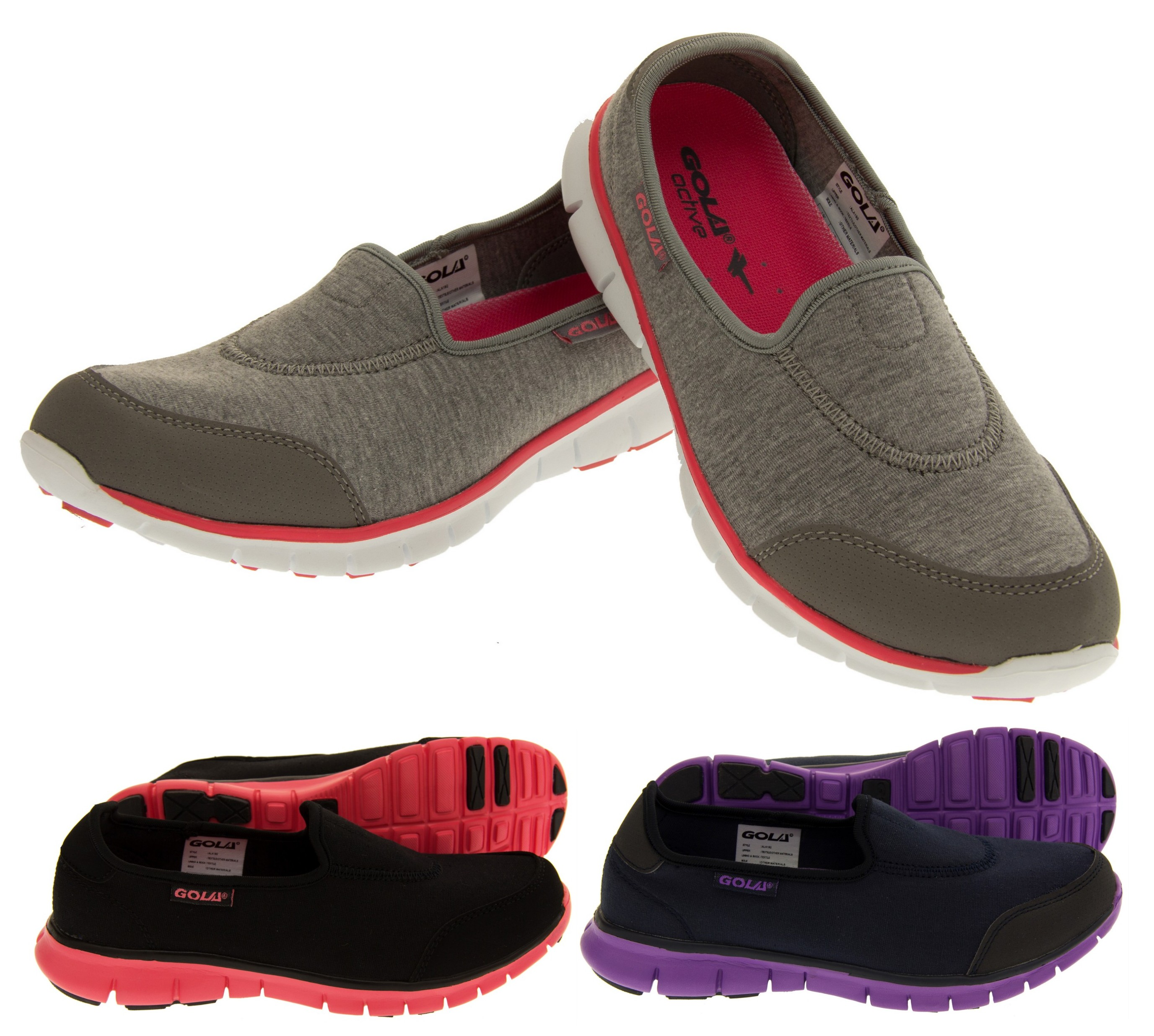 new gola fitness trainers womens slip on sports