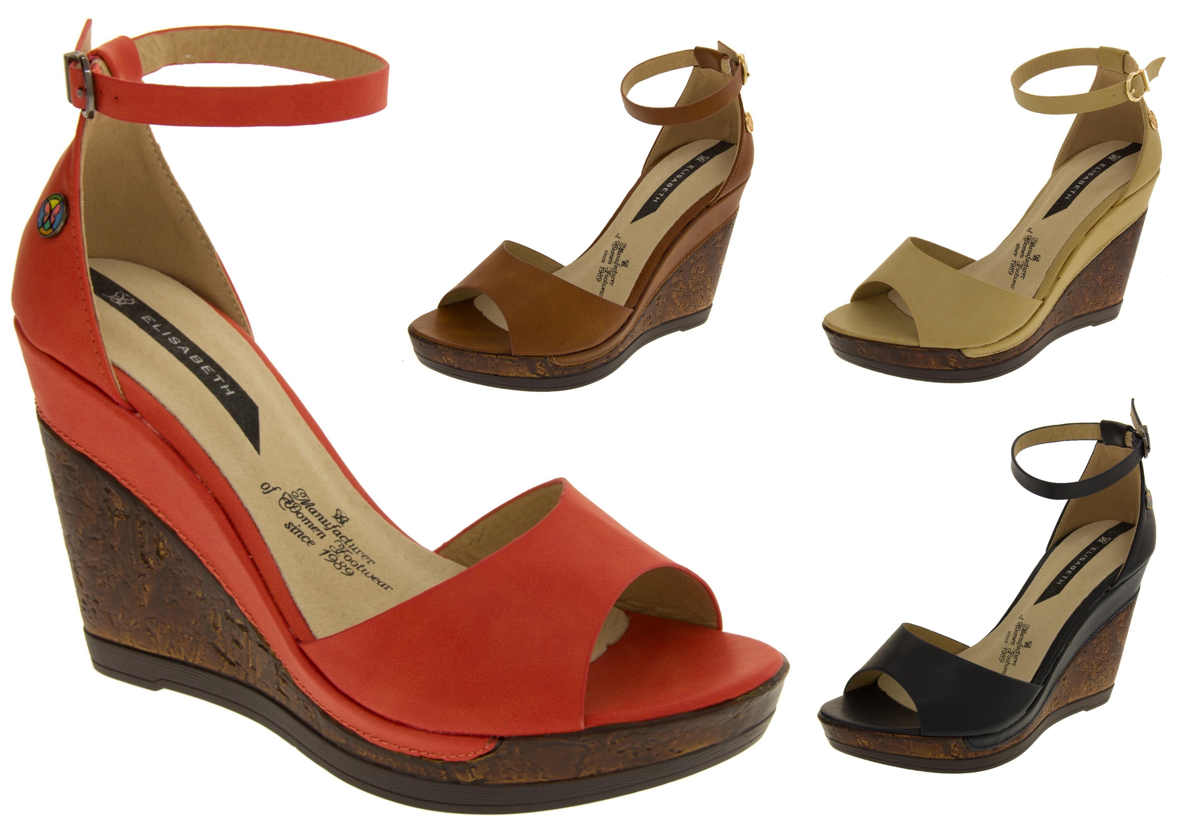 Ladies Strappy High Heel Sandals Womens Platform Wedge ...