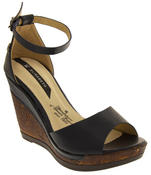 Womens Wedge Platform Strappy High Heel Sandals Thumbnail 11
