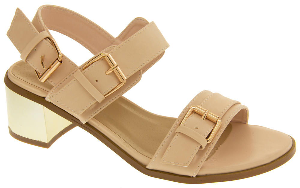 ladies dolcis strappy mid heel sandals womens summer shoes