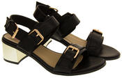 Ladies DOLCIS Strappy Mid Heel Sandals Womens Summer Shoes Thumbnail 4