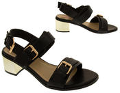 Ladies DOLCIS Strappy Mid Heel Sandals Womens Summer Shoes Thumbnail 6