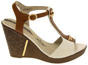 Womens Wedge High Heel Platform Strappy Sandals Thumbnail 11
