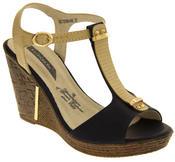 Womens Wedge High Heel Platform Strappy Sandals Thumbnail 2