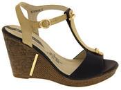 Womens Wedge High Heel Platform Strappy Sandals Thumbnail 3