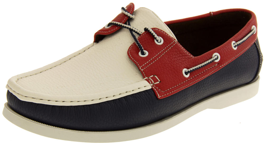 Mens SHORESIDE Smart Deck Shoes Casual Boat Shoe Loafers