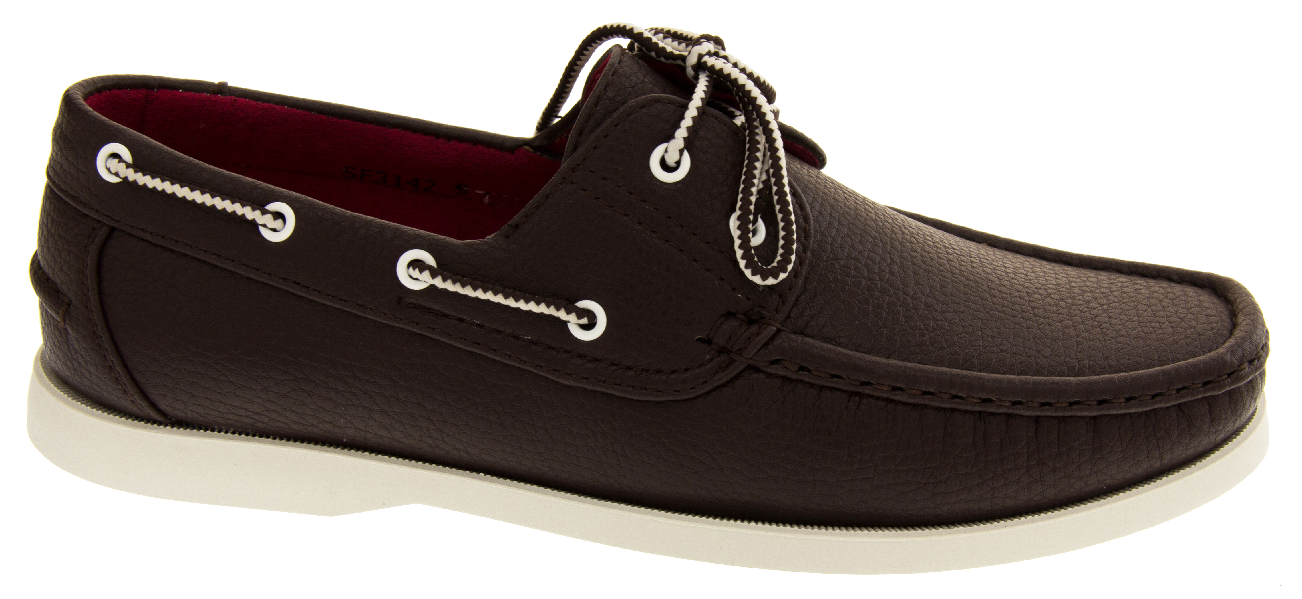 mens shoreside lace up boat shoes casual deck shoe loafers