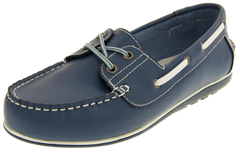 Womens Leather Shoreside Deck Shoes