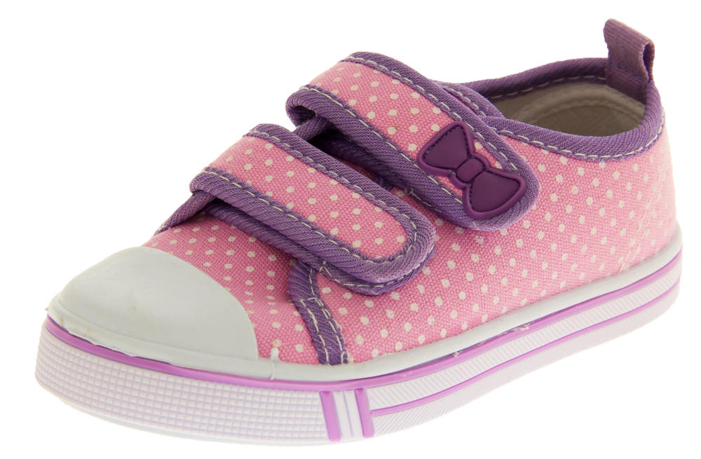 Girls Velcro Strap Trainers Summer Pumps