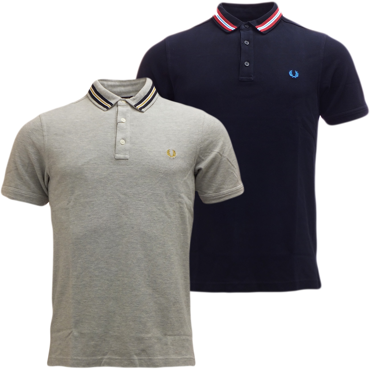 fred perry polo shirt stripe collar pique polo new polos mr h menswear. Black Bedroom Furniture Sets. Home Design Ideas