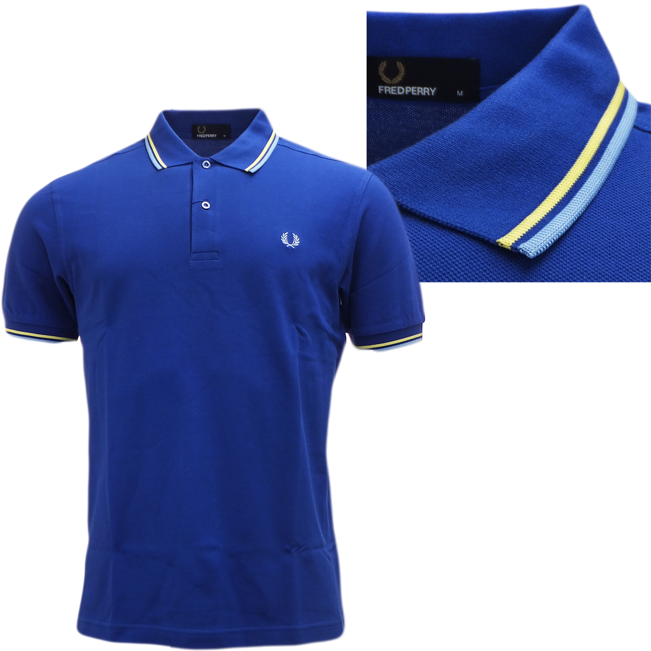 fred perry polo shirt original m1200 standard fit polos royal blue ebay. Black Bedroom Furniture Sets. Home Design Ideas