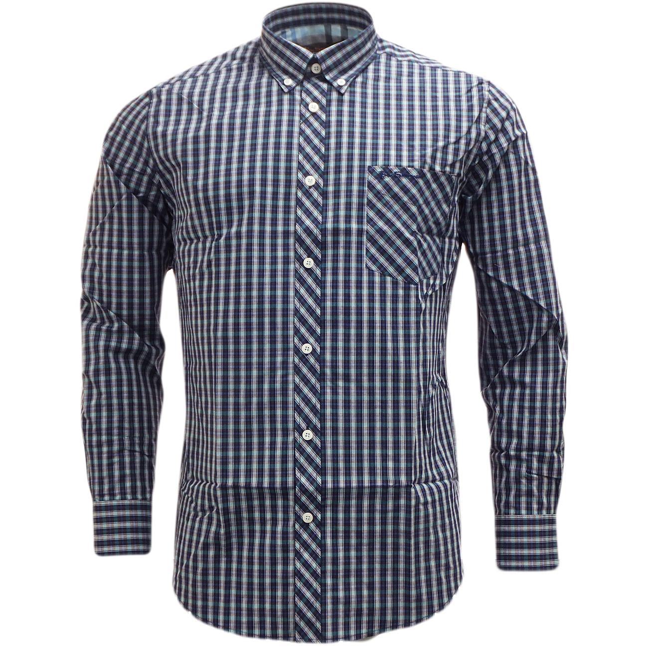ben sherman long sleeve check shirt mod retro checked