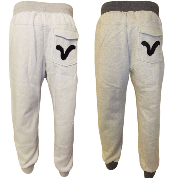 Mens Voi Jogger Sweat Pants Ribbed Hem Grey Ecru Sizes S - XXL