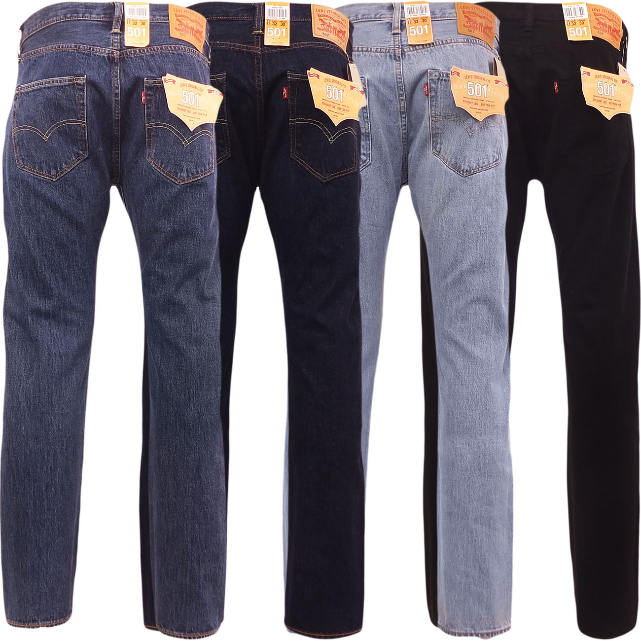 levi 501 jeans mens levi 39 s strauss denim straight fit trouser pant button fly ebay. Black Bedroom Furniture Sets. Home Design Ideas
