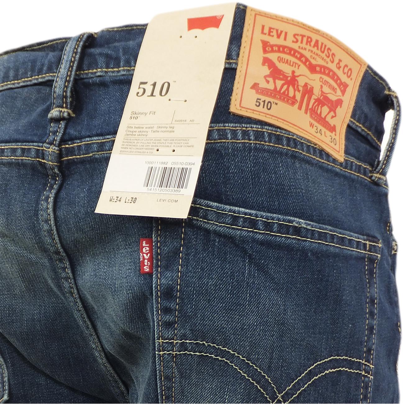 levi 510 skinny fit jean slim skinny leg canyon blue