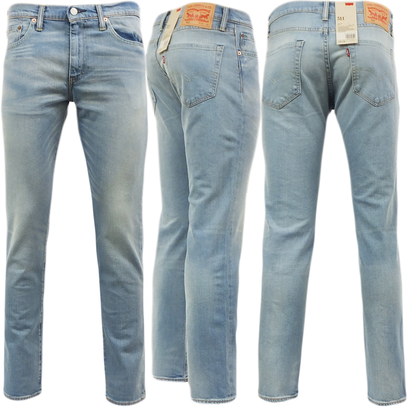 mens levi 511 slim fit jean aber light blue 30 32 34 36 38 ebay. Black Bedroom Furniture Sets. Home Design Ideas