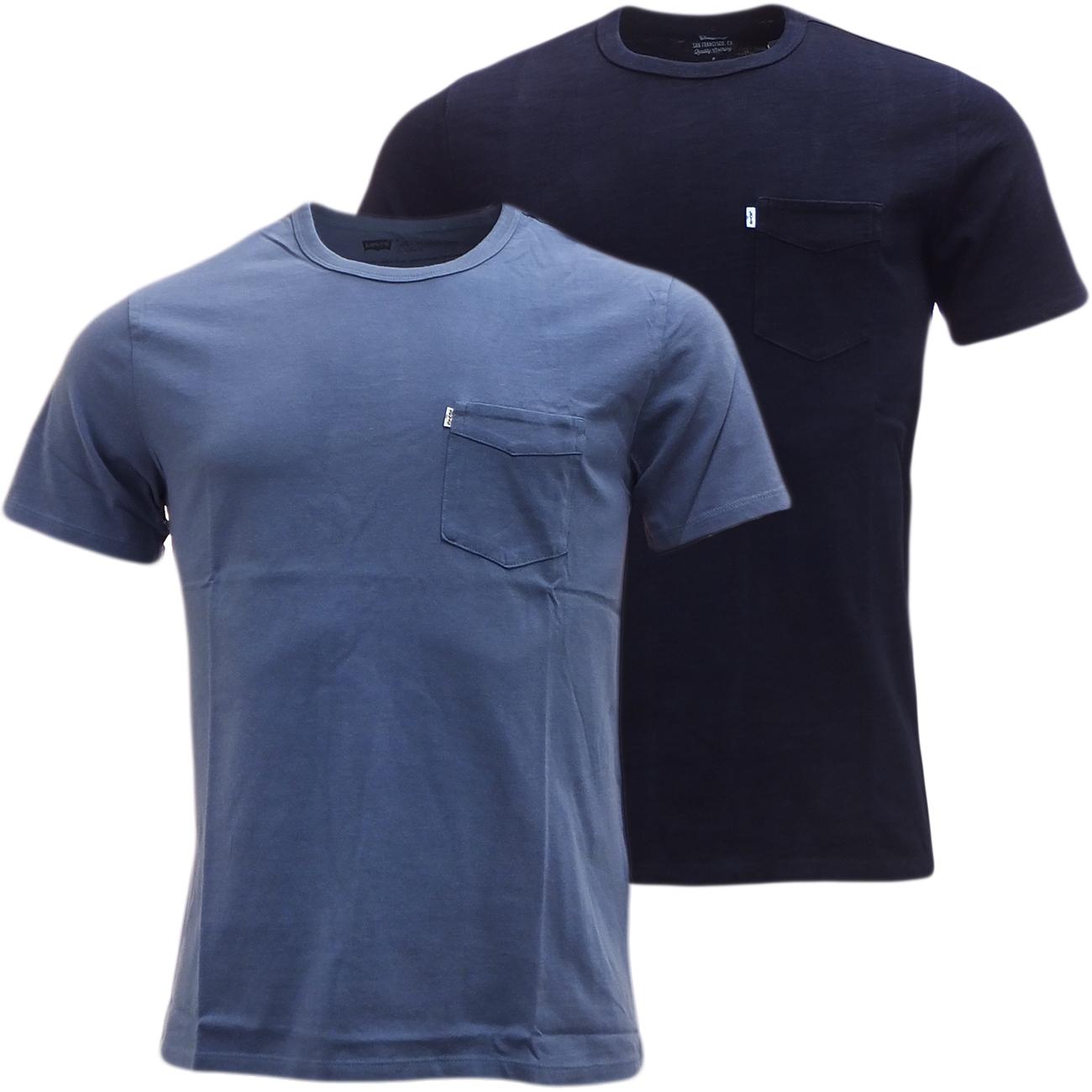 Mens levi plain t shirt with pocket ebay for Levis plain t shirts