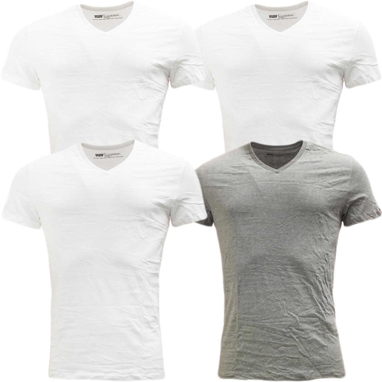 Mens levi strauss plain v neck t shirt pack of 2 t for Plain t shirt pack
