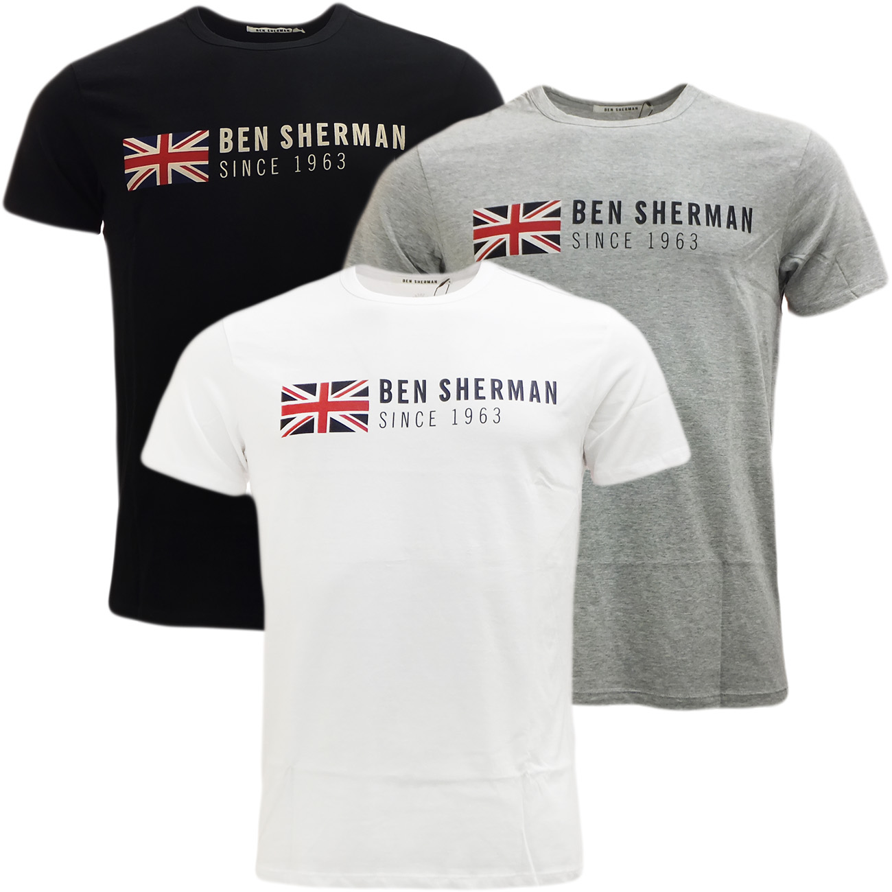 mens tshirts ben sherman union jack t shirt mod retro