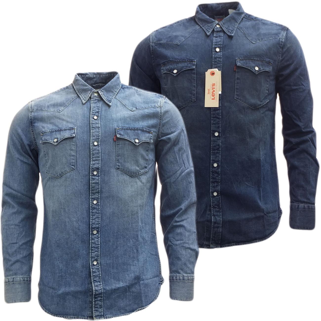 mens shirts levi strauss long sleeve denim shirt ebay