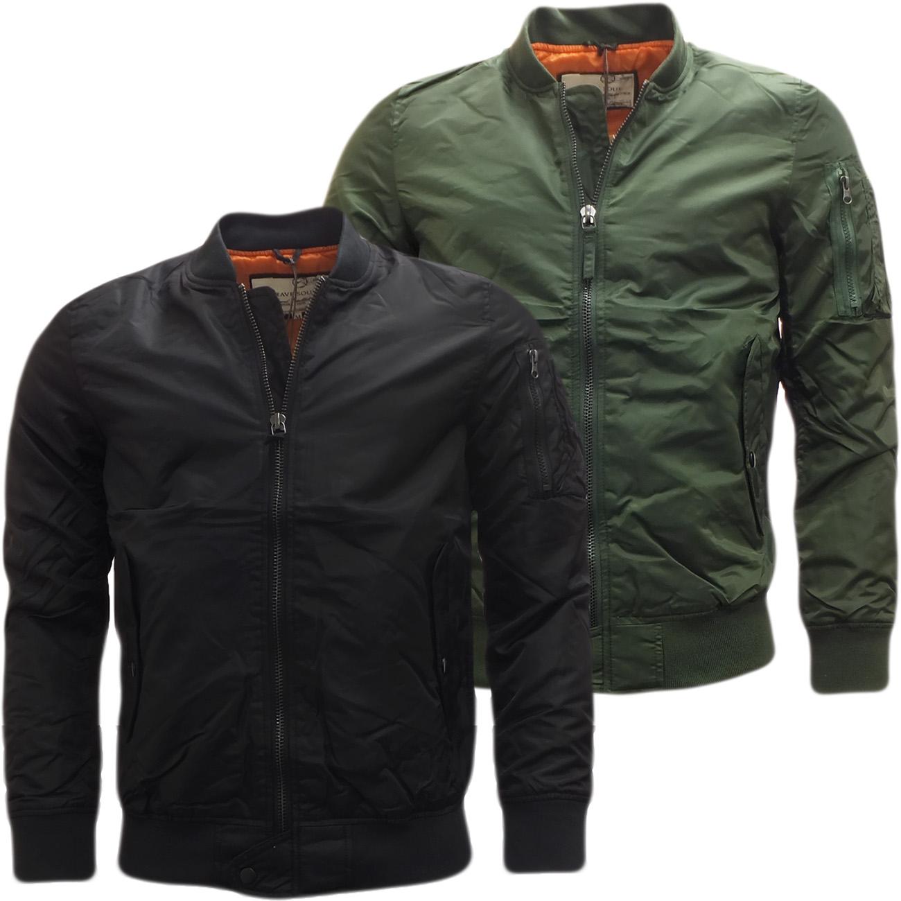 mens jackets brave soul bomber jacket 39 oslo 39 ebay. Black Bedroom Furniture Sets. Home Design Ideas