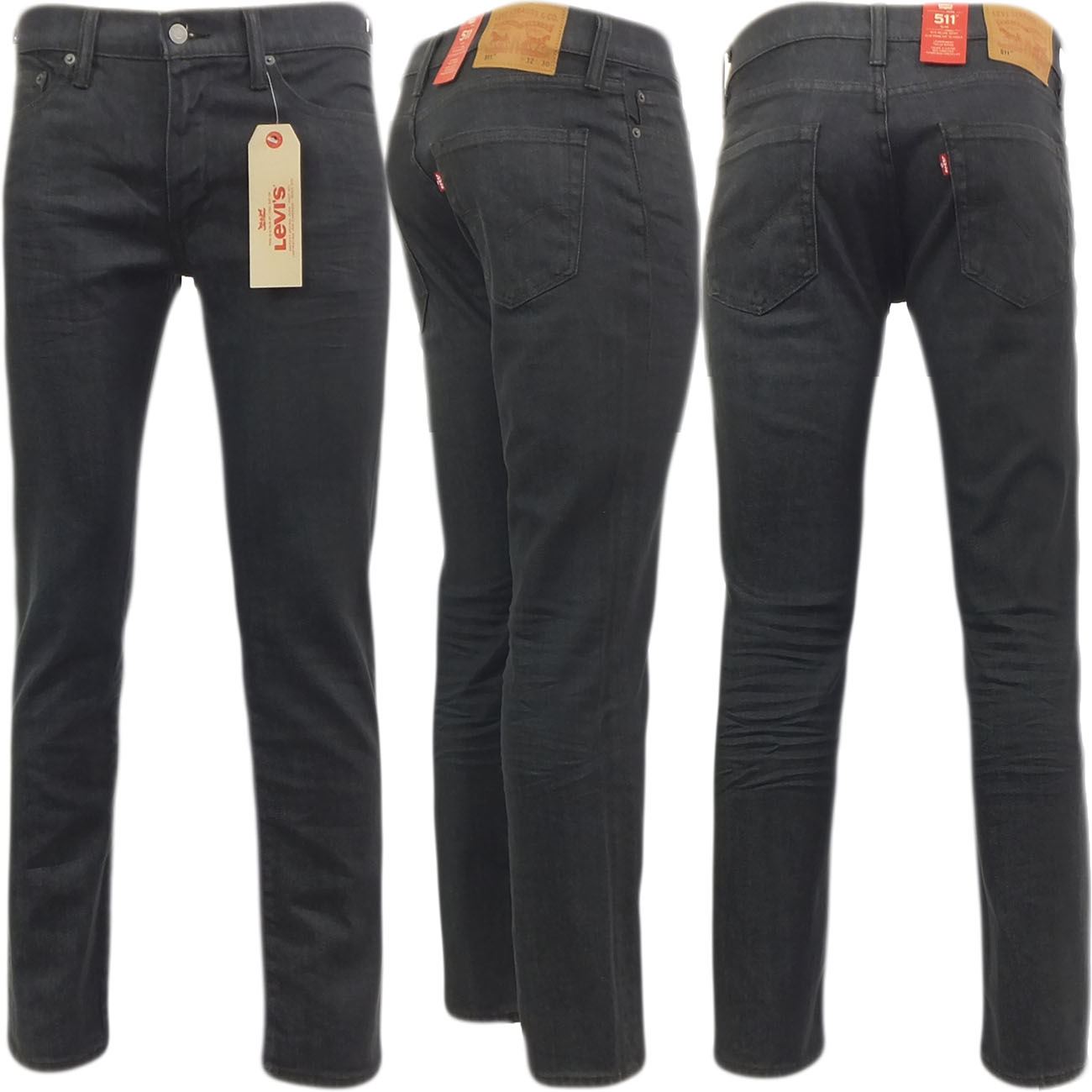 herren levi strauss 511 slim fit jean 39 newby 39 dunkelgrau ebay. Black Bedroom Furniture Sets. Home Design Ideas