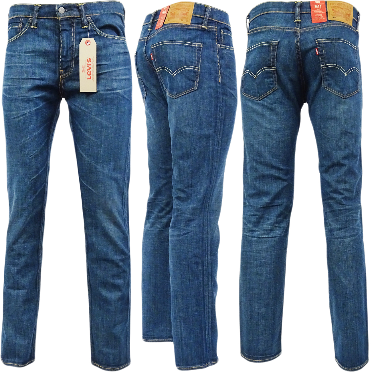 herren levis jeans 511 enge passform 39 explorer 39 denim hose ebay. Black Bedroom Furniture Sets. Home Design Ideas