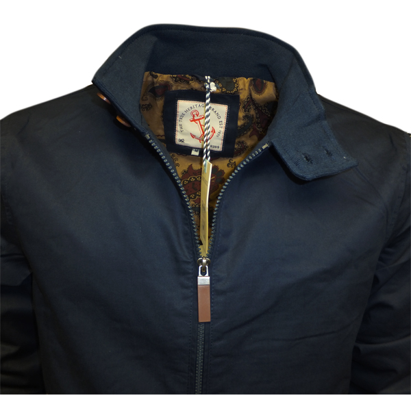 Brave Soul Mens Harrington Lightweight Jacket Full Zip Coat Navy ...
