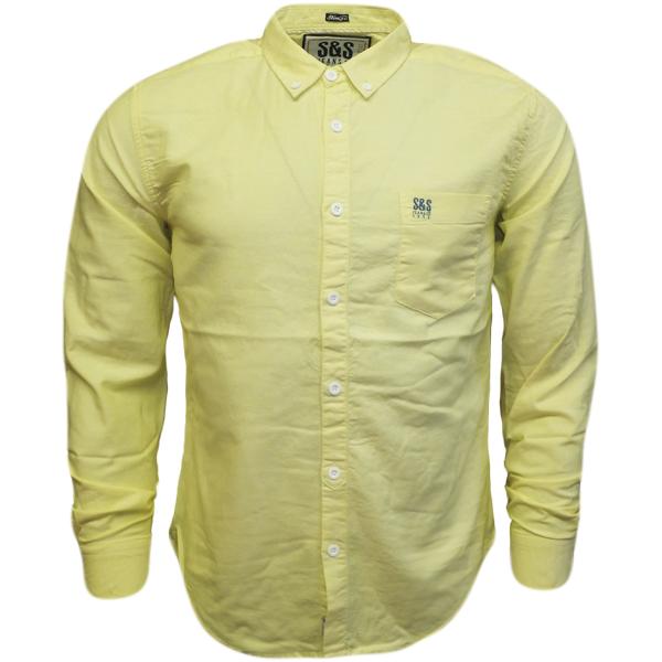 Mens Plain Shirts S S Long Sleeve Shirt White Blue Pink