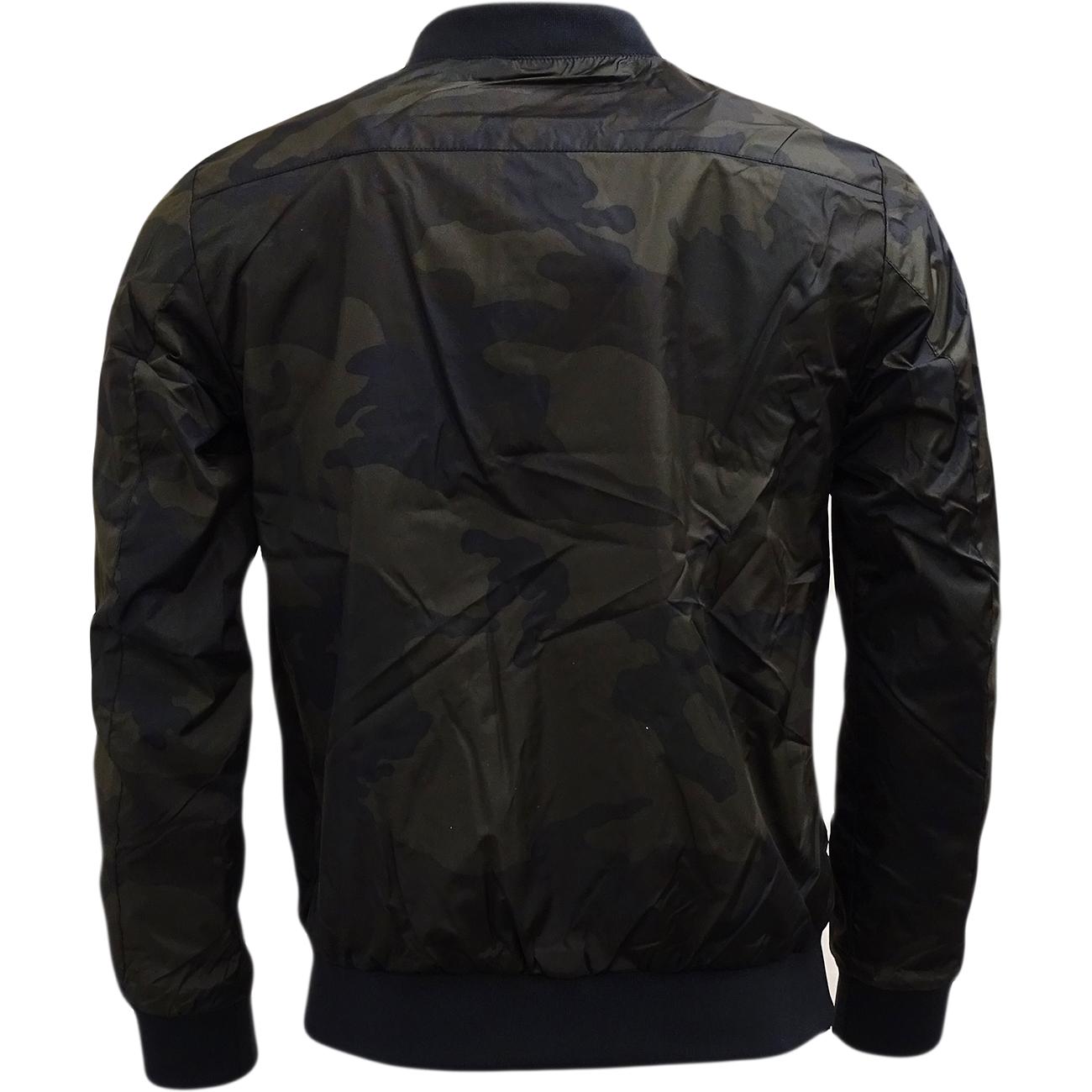 brave soul camouflage lightweight jacket khaki jackets. Black Bedroom Furniture Sets. Home Design Ideas