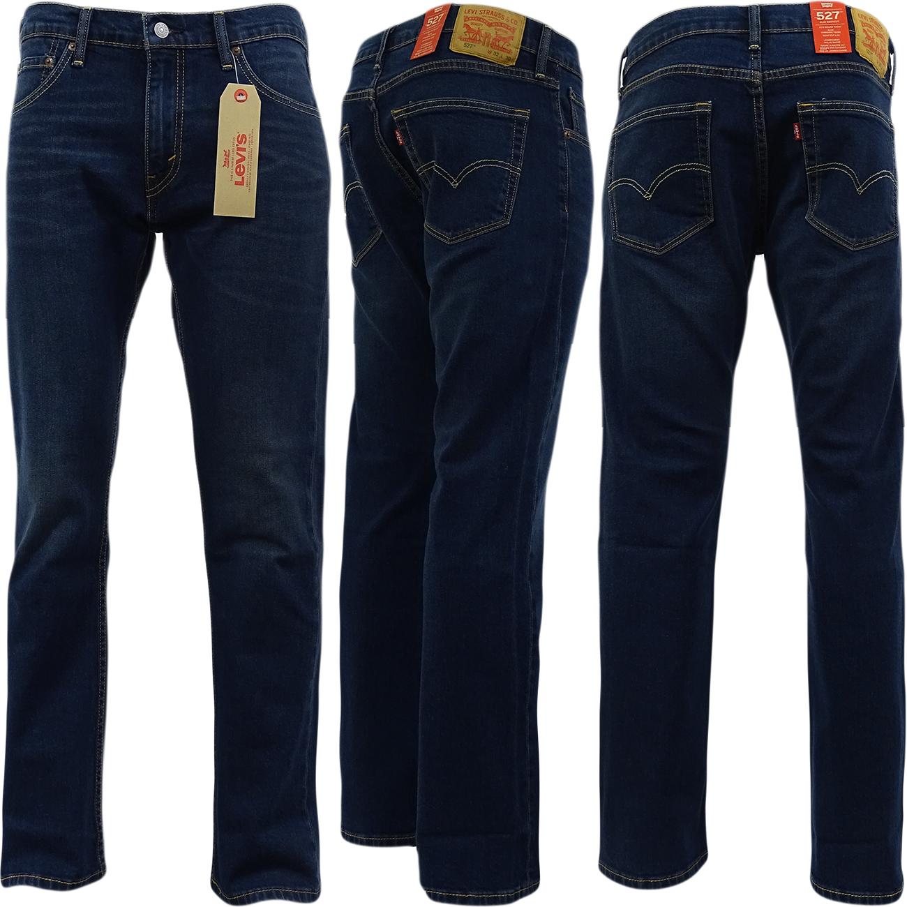 mens levi strauss 527 bootcut jean 39 california 39 denim pants trouser ebay. Black Bedroom Furniture Sets. Home Design Ideas