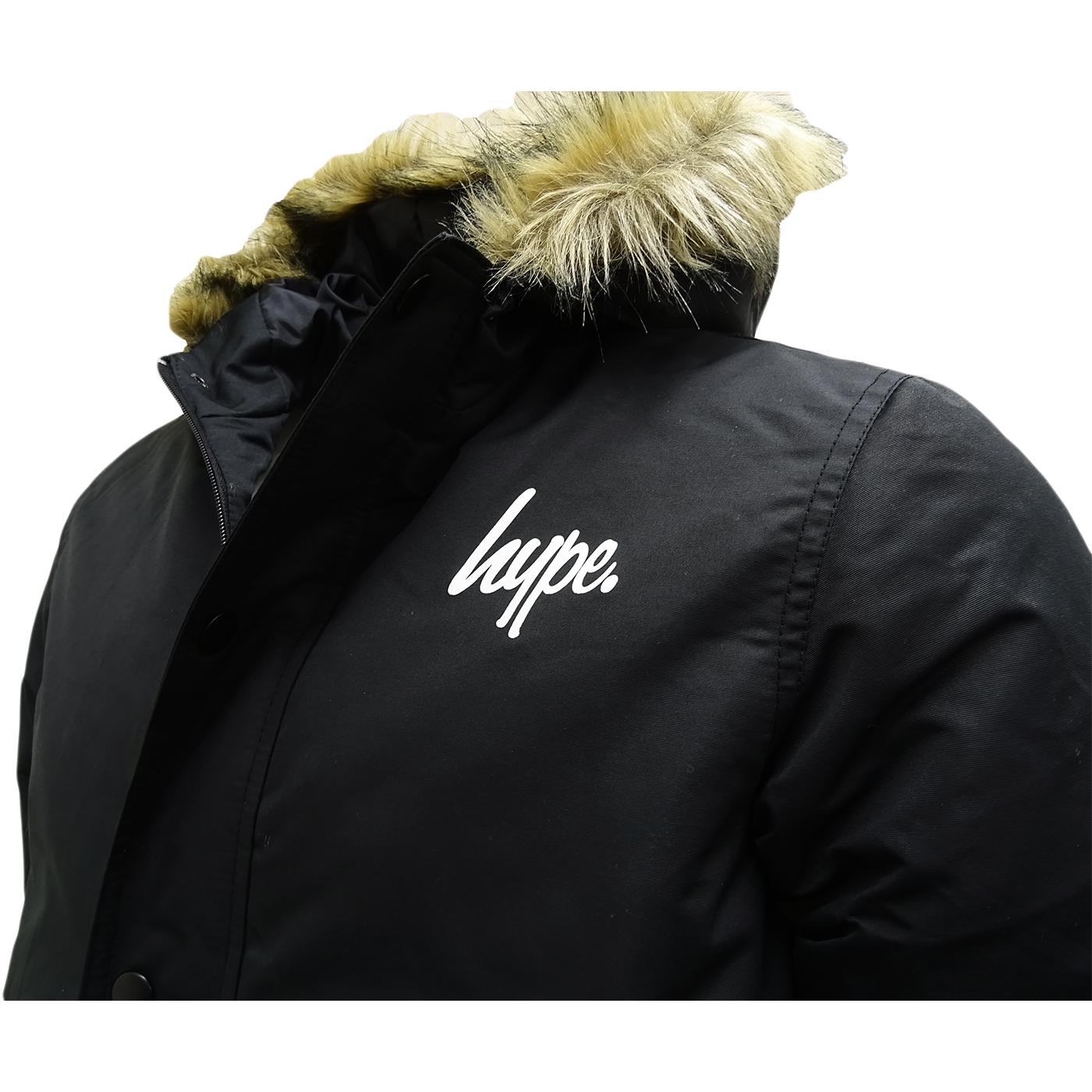 Hype Black Parka Jacket - Winter Outwear Coat   Jackets