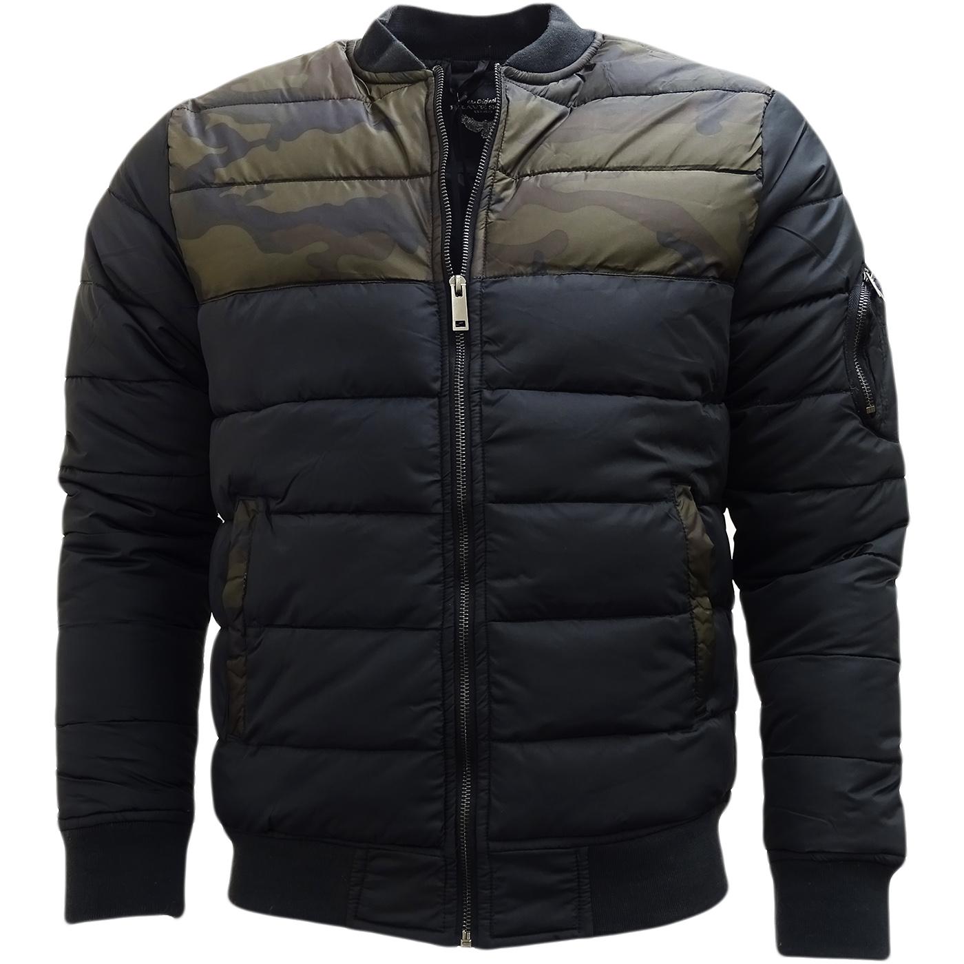 brave soul black camo top half jacket outerwear coat. Black Bedroom Furniture Sets. Home Design Ideas
