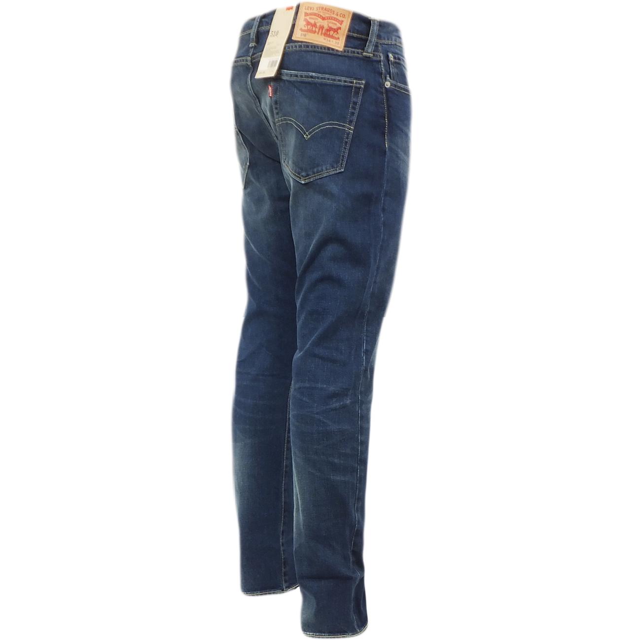 a0a96edbfbd0 Herren Levi 510 Skinny Fit Jeans Slim anliegendem Bein Canyon blau ...