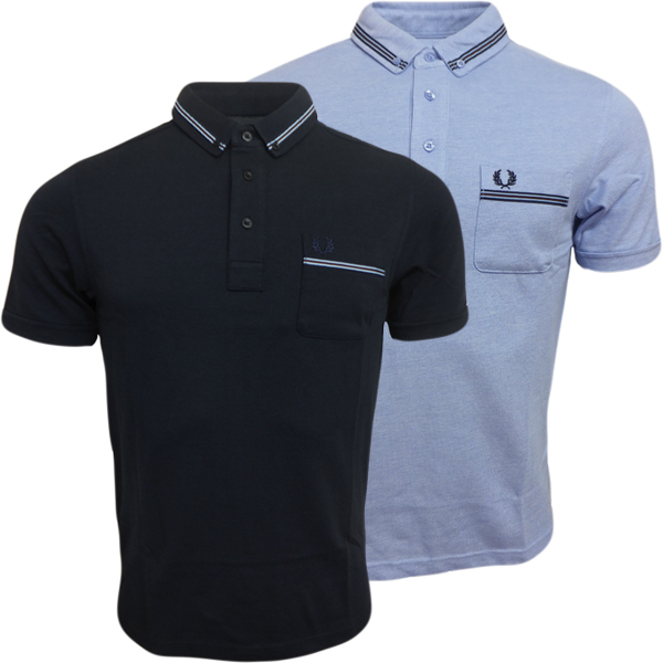 Fred Perry Polo Shirt Mens Short Sleeve Polo's Smart Casual Top All Sizes