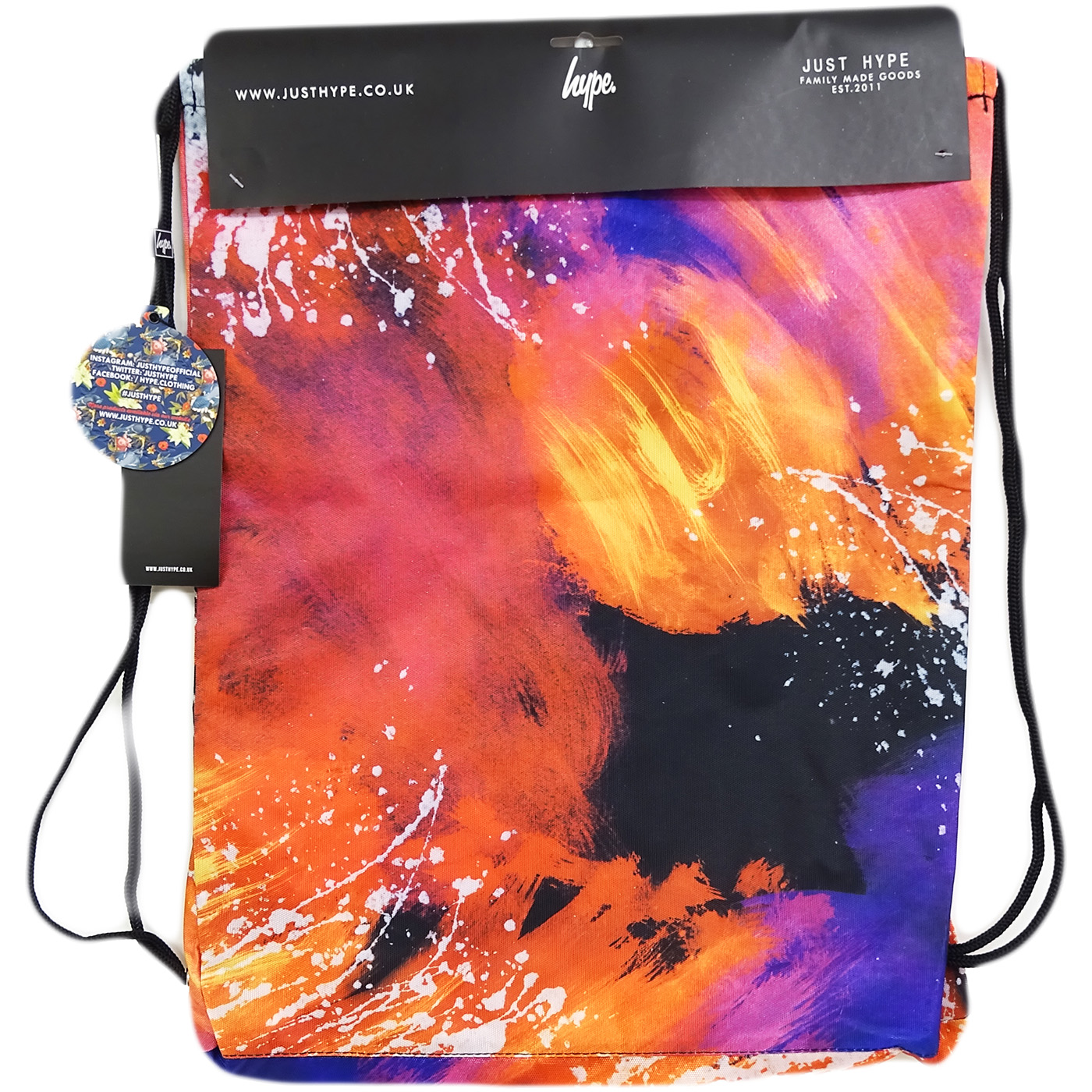 64b2d6b1be Hype Drawstring Bag   All Over Print   Space Graphic Bag -