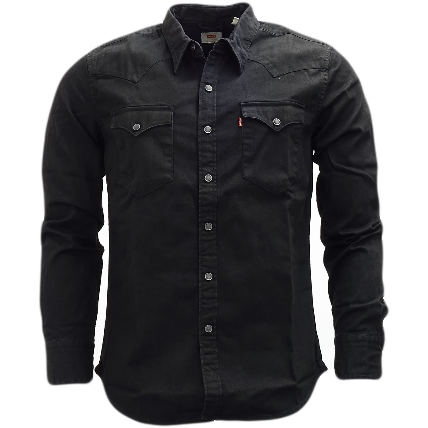 levi strauss western shirt popper front denim shirt