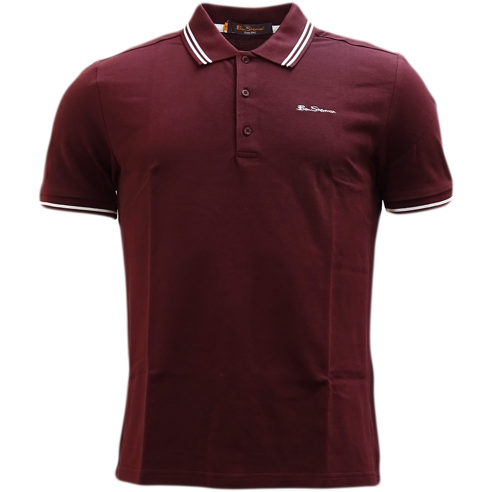 755b493f Mens Mod Retro Polo Shirts Ben Sherman Polo's S M L XL XXL